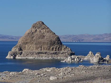 Pyramid Lake and Needles by Sally Hanrahan