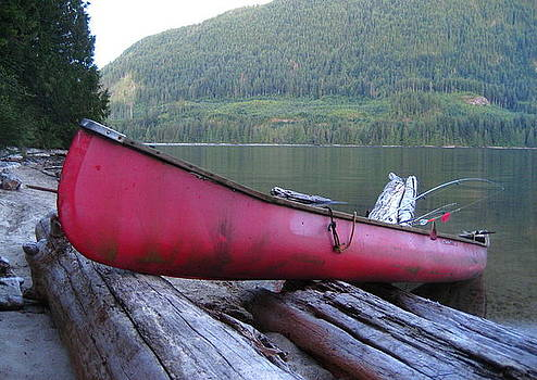 Red  Canoe by Shawn Hegan