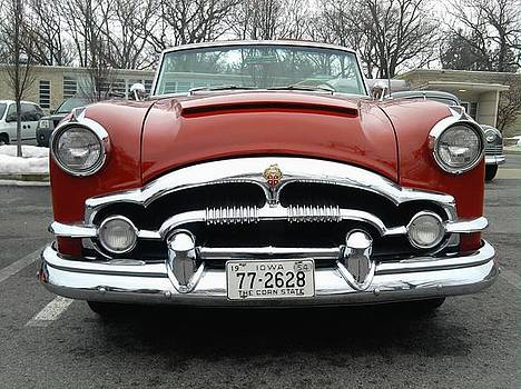 Red Packard Convertible  by Tim Donovan