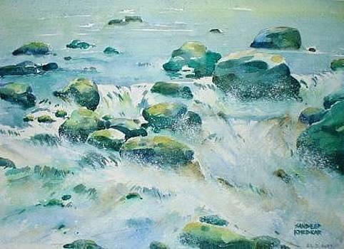 River Rocks by Sandeep Khedkar