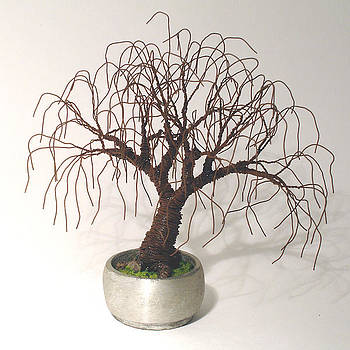 Rusted Bonsai - Wire Tree by Sal Villano