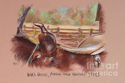 Saddle For Huck At Morgan Horse Ranch  Point Reyes National Seashore by Paul Miller