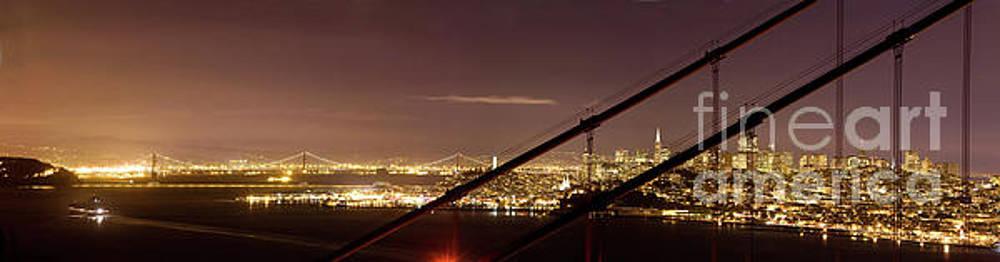 San Francisco Skyline as seen through Golden Gate Bridge by Matt Tilghman