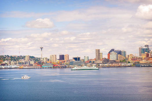 Seattle Skyline and the Sound by Steve Shockley