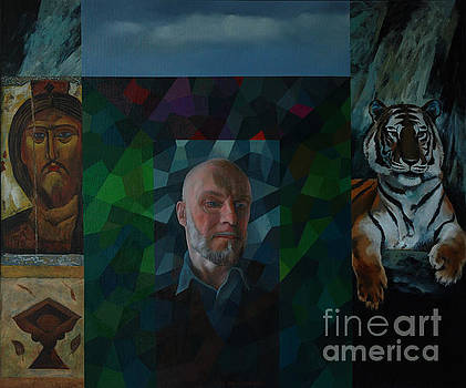 Self Portrait with Icons by Jukka Nopsanen