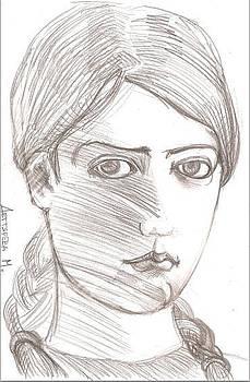Self-portrait5 by Maria Degtyareva