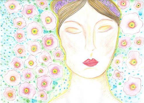 She dreams in flowers by Sheba Goldstein