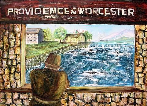 slater mills Pawtucket RI by Renee Dumont  Museum Quality Oil Paintings  Dumont