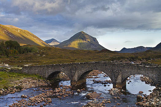 Sligachan and Marsco mountain in background by Gabor Pozsgai