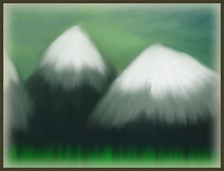 Snow Top Mountains by Shelia Bull