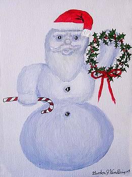 Snowman Santa by Gordon Wendling