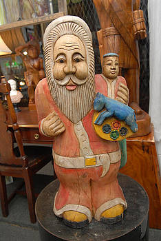 Solid Wood Santa Claus by Unknown
