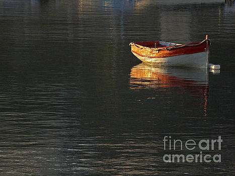 Solitary Boat by Mary Attard