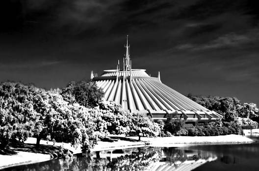 Space Mountain Black And White HDR by Thomas  MacPherson Jr