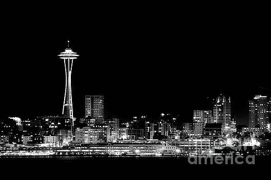 Space Needle BW by Steve Shockley