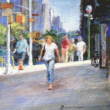 Spring Morning on Amsterdam Avenue by Peter Salwen