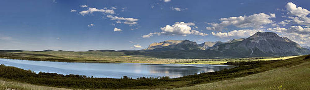 St Mary Lake to the Mountains Montana Landscape Art Glacier National Park Larry Darnell by Larry Darnell