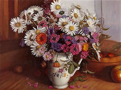 Still life of flowers by Erika Lukacs