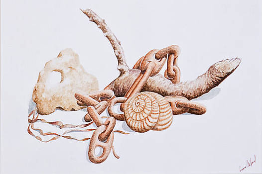 Still Life With Snail.  140 by Louis Mifsud