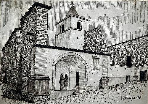 Stone Church Central Portugal by Lester Glass
