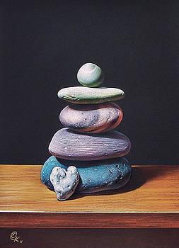 Stone tower 2 by Elena Kolotusha