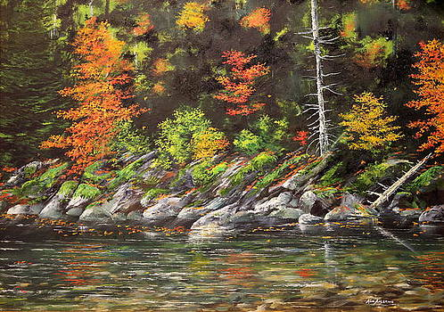 Streamside by Ken Ahlering