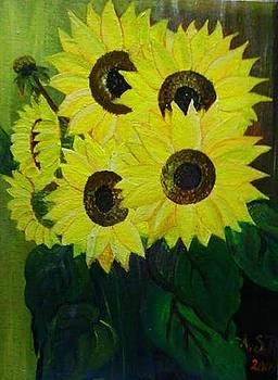 Sun flower by Rekha Artz