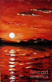 Sunset on the sea by Muna Abdurrahman