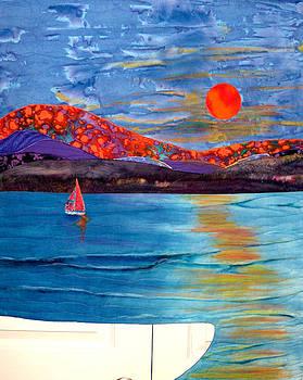 Sunset On The Sound by Maureen Wartski
