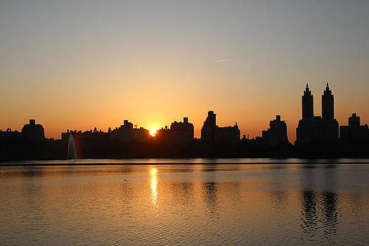 Sunset over Central Park West by Jane Wals