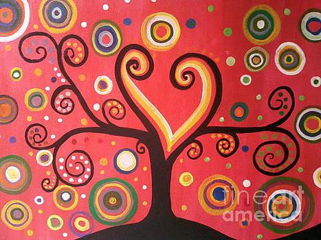 Swril Tree paintng by Rekha Artz