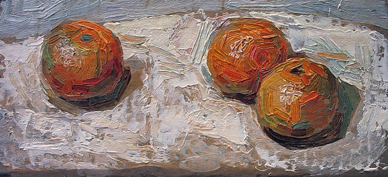 Tangerines. Quick Oil Sketch. 2004  by Yuri Yudaev