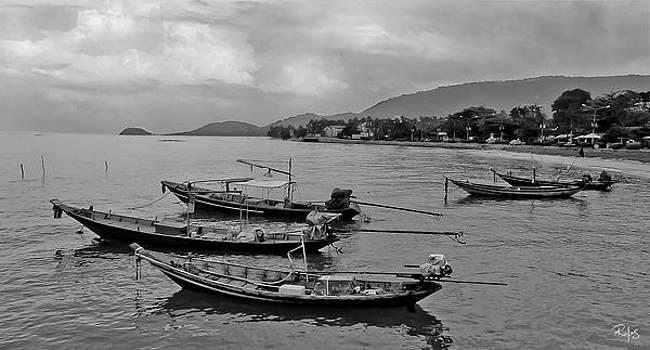 Thai fishing boats by Allan Rufus