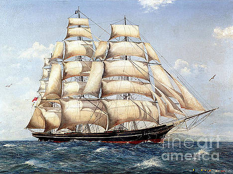 The Catty Sark In  her Glory  by Miki Karni