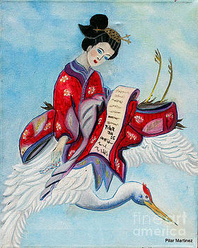 The Flying Geisha by Pilar  Martinez-Byrne