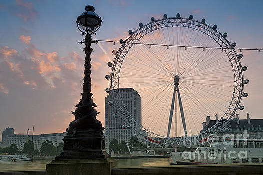 The London Eye Sunrise by Donald Davis