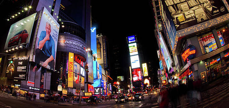Times Square By Night by Peter Verdnik