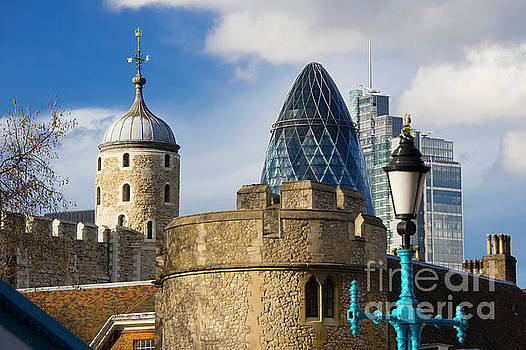 Tower and Gherkin by Donald Davis