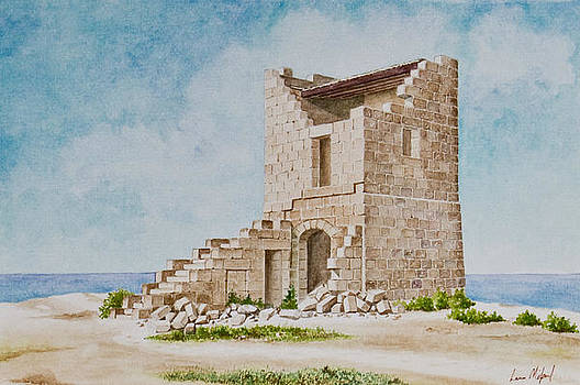 Tower at Ghajn Znuber. 81 by Louis Mifsud