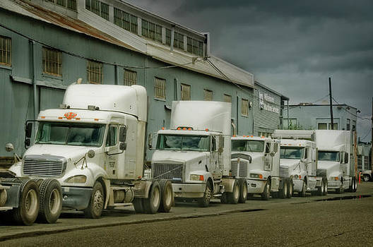 Trucks in a Row by Steve Shockley