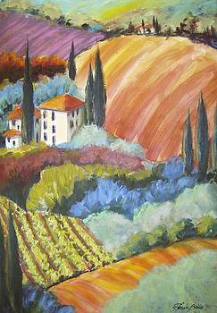 Tuscany Hillside Olives by Therese Fowler-Bailey