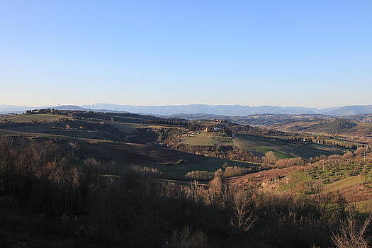 Tuscany valleys at sunset by Francesco Scali