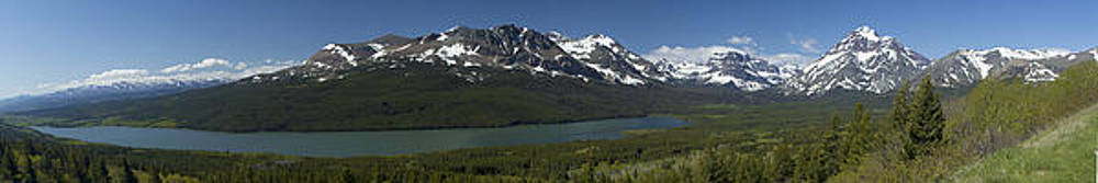 Two Medicine Glacier National Park Panorama by Larry Darnell