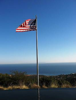 US Flag at Pepperdine University by Victoria  Johns