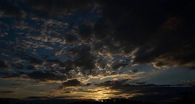 Uxbridge State Forest Sunset by John Davenport