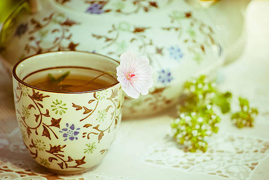 Vintage Tea - 3 by Kimberly Deverell