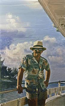 Walt on Fishing Boat by Walt Jackson