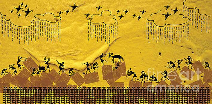 Warli hunting by Subhash Limaye