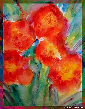Watercolor garden by M C Sturman
