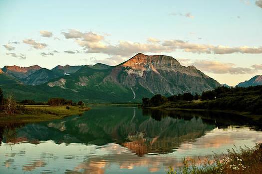 Waterton Sunset Alberta Landscape photograph Larry Darnell panorama by Larry Darnell